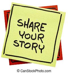 aantekening, verhaal, aandeel, jouw, herinnering