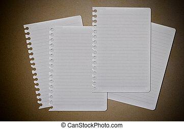 aantekening, witte , papier