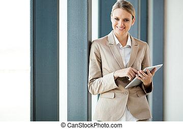aantrekkelijk, jonge, businesswoman