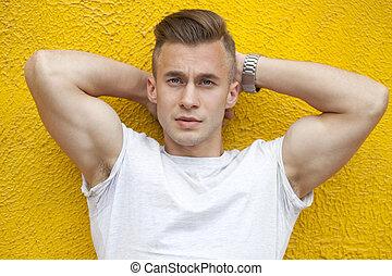 aantrekkelijk, jonge man