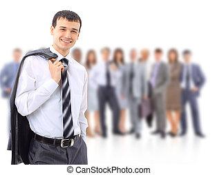 aantrekkelijk, jonge, zakenlui