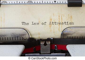 aantrekking, wet