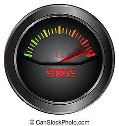 aanwijzen, stress, meter