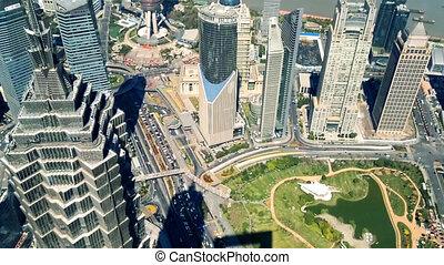 aanzicht, luchtopnames, china, shanghai