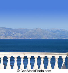 aanzicht, middellandse zee, balkon