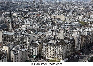 aanzicht, parijs, kathedraal, mokkel, frankrijk, notre