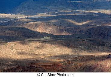 aanzicht, van, de, berg vallei
