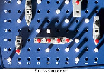 aanzicht, van, slagschip, spel