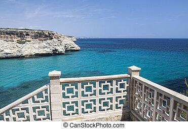 aanzicht, zee, balkon