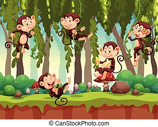 aap, in, de, jungle