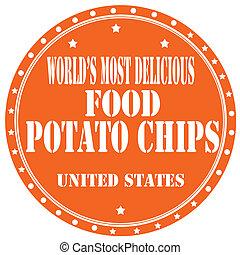 aardappel, chips-label
