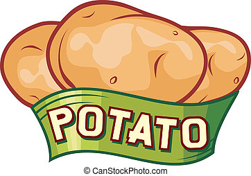 aardappel, ontwerp, etiket