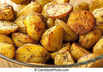 aardappels, bakt