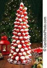 aardbei, boompje, kerstmis