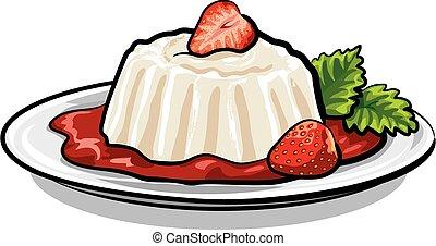 aardbei, dessert