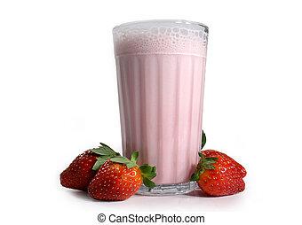 aardbei melk verwiken
