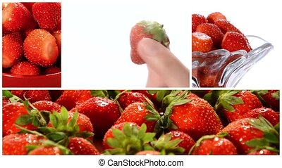 aardbeien, collage
