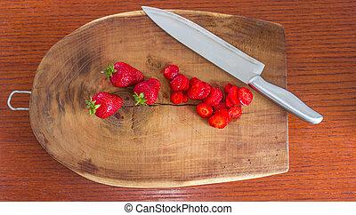 aardbeien, scherpe raad