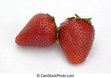 aardbeien, twee