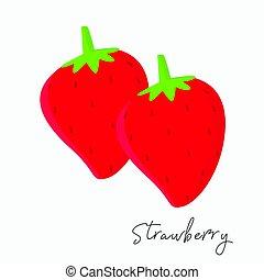 aardbeien, vector