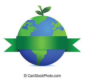 aarde, bladeren, fruit, groene, zoals