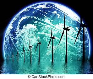 aarde, ecologisch, technologie