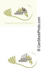 aarde, energie, concept, bulb., vernieuwbaar
