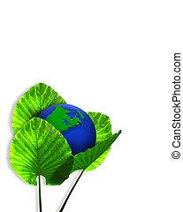 aarde, grafisch, ecologie, groene, 3d