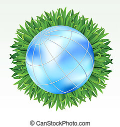 aarde, gras