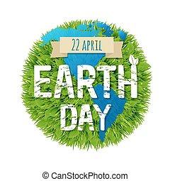 aarde, groene, dag