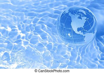 aarde, in, water