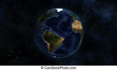aarde, itself, draaien