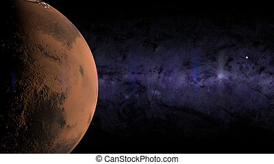 aarde, maan, mars