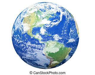 aarde, model:, usa, aanzicht