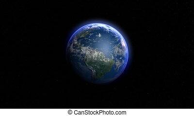 aarde, om te, kaart, transformatie