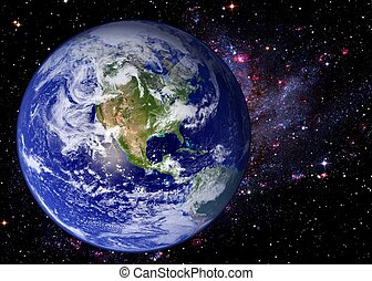 aarde, ruimte, heelal, melkweg