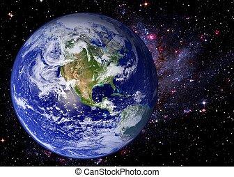 aarde, ruimte, melkweg, heelal