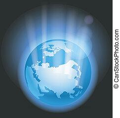 aarde samenvatting, illustratie