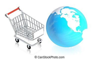 aarde, shoppng, kar