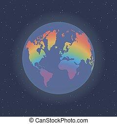 aarde, space.