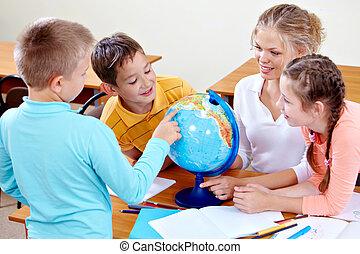 aarde, studeren