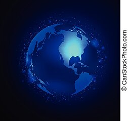 aarde, vector, achtergrond, ruimte