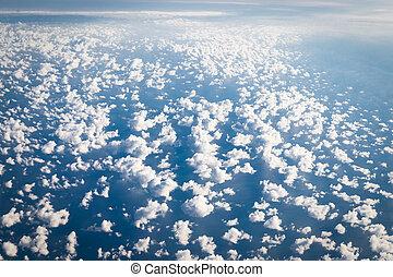 aarde, vliegtuig, aanzicht