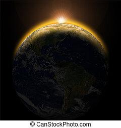 aarde, zon