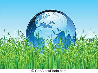 aardebol, glanzend, kaart