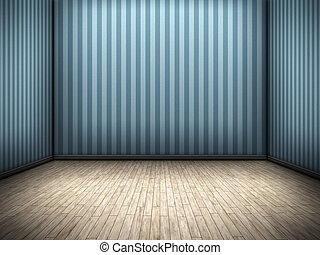 aardig, blauwe , kamer