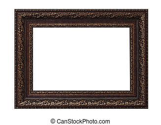 aardig, leeg, afbeelding, vrijstaand, frame