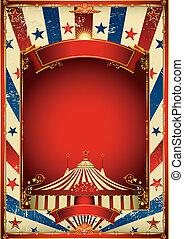 aardig, ouderwetse , circus, achtergrond
