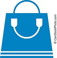 aardig, winkel, zak, symbool