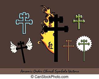 Aaronic Order Church Symbols Vector